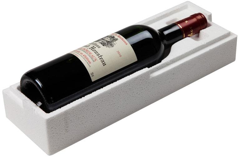 Emballasje til vinflaske i støpt EPS