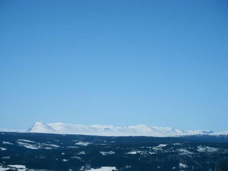 Fantastisk utsikt mot Skogshor og Jotunheimen