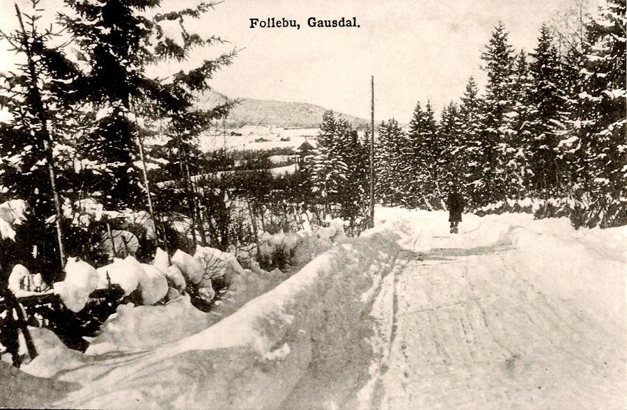 Vinterveg sør for Follebu sentrum (Foto: ukjent)
