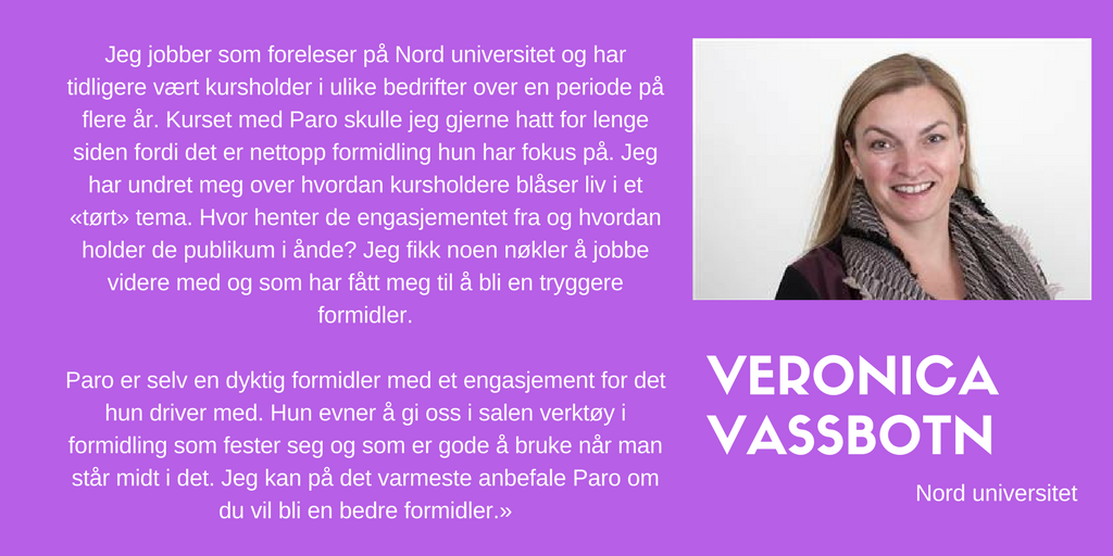 Kundeuttalelse Veronica Vassbotn, Nord universitet