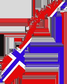 Norges flagg og kart