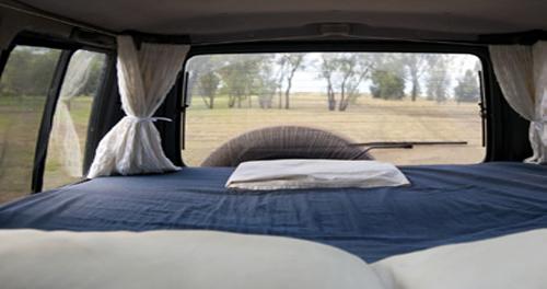 Bilde av en bobil madrass i bolbil