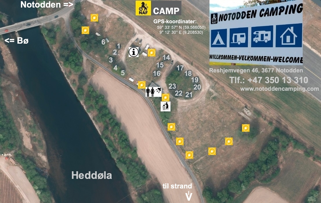 Booking Notodden Camping AS Hyggelig overnatting i Telemark Norge