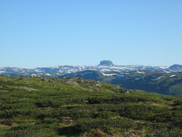 Hardangervidda and the well known Hårteigen