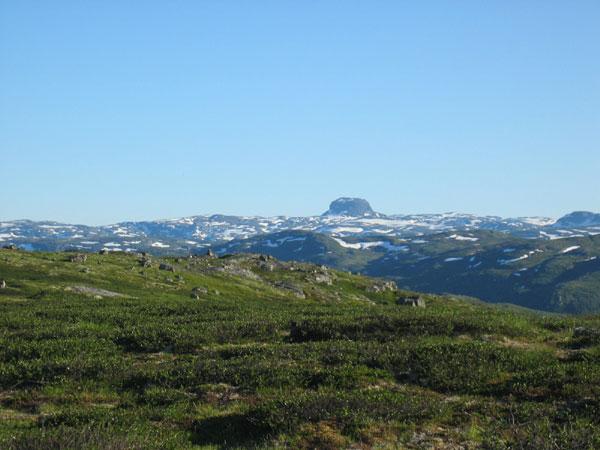 Hardangervidda - utsikt mot Hårteigen.