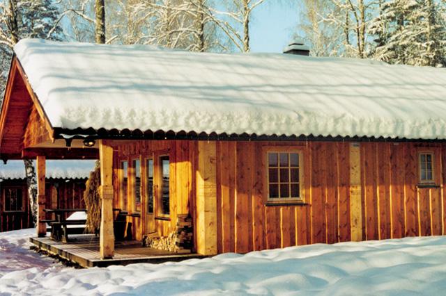 Hytte vinter