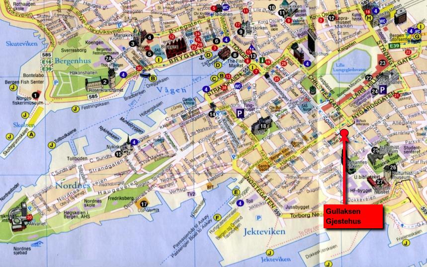Kart, Bergen