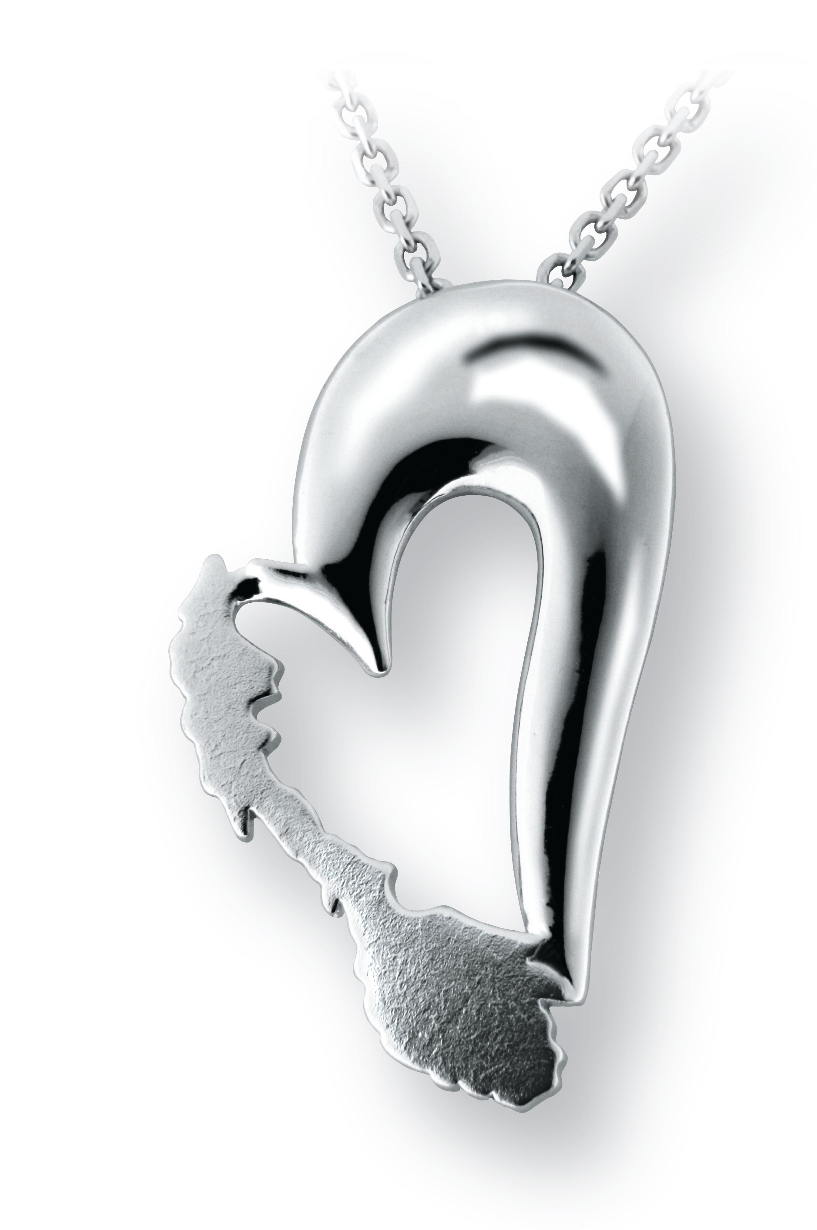 Bilde av Norgeshjertet i sølv