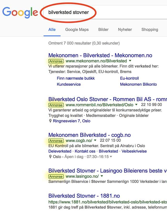 5252efa24 Du kan ha annonser inne i andres Google-søk | Mekke Media, nettsider ...