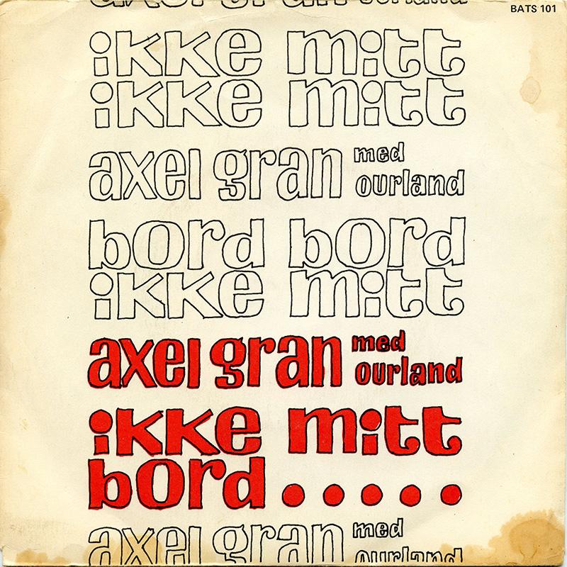 Platecover til Aksel Gran - Ikke mitt bord