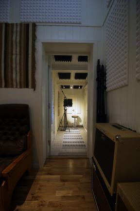 Studiorom for opptak av sang