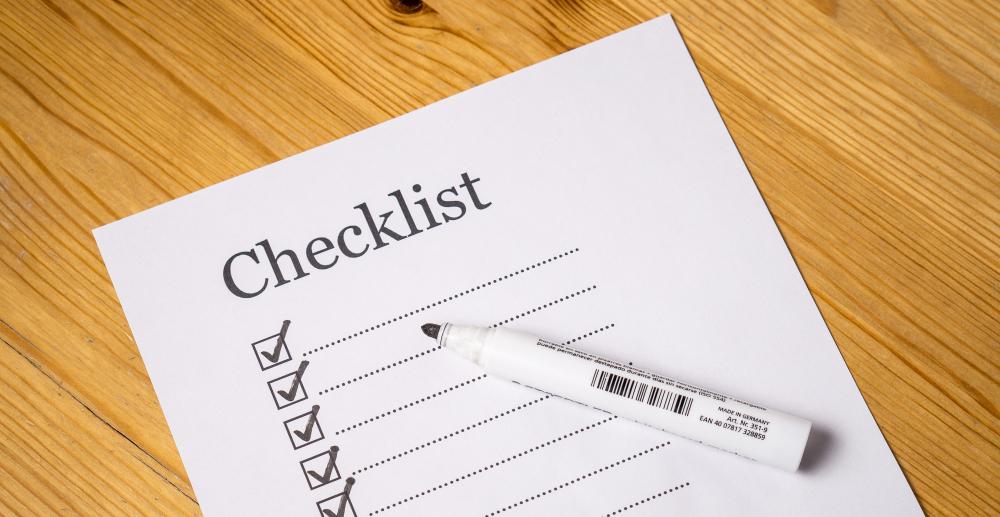 Illustreren bilde som viser en sjekkliste til et søknadsskjema