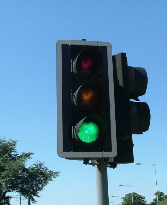 Trafikklys på grønt
