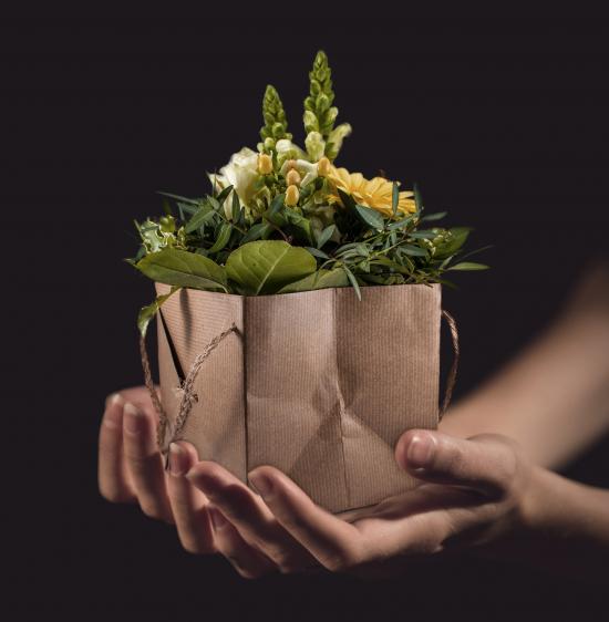 Pakke med blomster