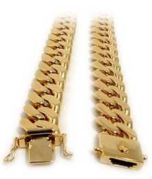 Panserarmbånd i gull