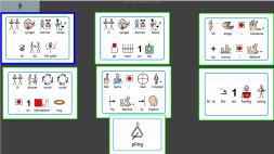 Barnas Blues med symboler