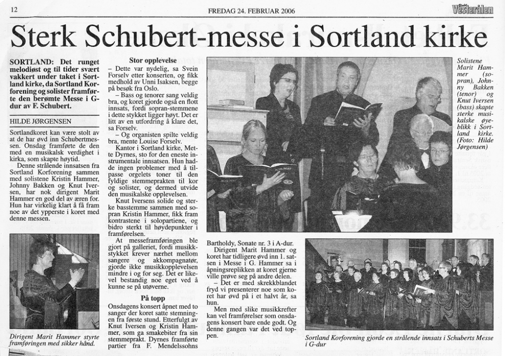 Messe i G av Schubert