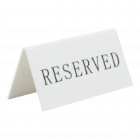 Bordskilt, Reserved, 5 stk