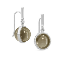 BAMBOO UNITY EARRINGS pyrite kvarts