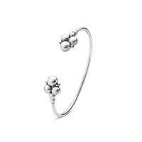 Grape open bangle 551E silver