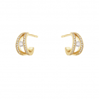 Halo earring 1634A yg diam pave