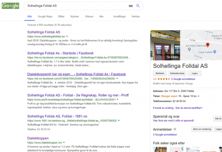 Google Min bedrift